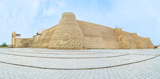 The fortress of Bukhara. The Ark Fortress is one of the  most popular tourist places in the city, Bukhara, Uzbekistan Royalty Free Stock Photography