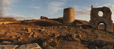 Fortress Calamita, Inkerman. Inkerman is a city in the Crimean peninsula. Сave fortress.Kalamita, a medieval fortress expanded in the 14th century, now lying in Royalty Free Stock Images