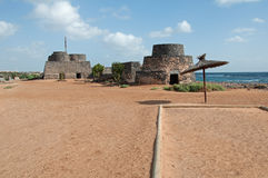 Fortress of Caleta de Fustes Royalty Free Stock Images