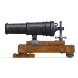 Fortress cannon. 3D render with clipping path and shadow over white Royalty Free Stock Images