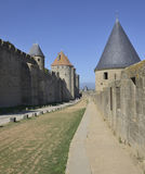 The fortress of Carcassonne Royalty Free Stock Photos