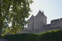 The fortress of Carcassonne Stock Photo