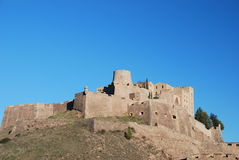 Fortress of Cardona. View of the Castle of Cardona in Catalonia, Spain Royalty Free Stock Photo