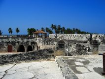 Fortress in Cartagena Colombia Stock Image
