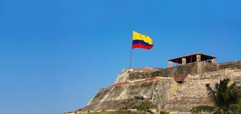 Fortress of Cartagena, Colombia. The castle of San Felipe de Barajas, Cartagena de Indias, Colombia royalty free stock images