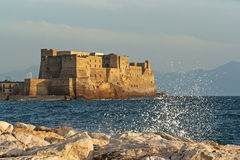 Fortress Castel dellOvo of Naples in Italy Royalty Free Stock Photos