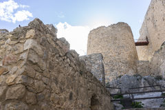 Fortress and castle of Consuegra in Toledo, Spain. medieval fort Royalty Free Stock Photography