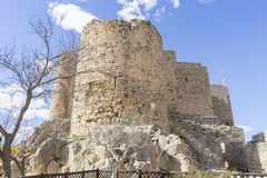 Fortress and castle of Consuegra in Toledo, Spain. medieval fort Stock Photos
