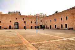 Fortress castle of the fishing village of Santa Pola, Spain. Fortress castle of the fishing village of Santa Pola, Alicante, Spain stock images