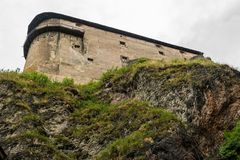 Fortress of castle on the rock. Fortress of Orava castle on the rock stock photos