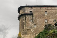 Fortress of castle on the rock. Fortress of Orava castle on the rock royalty free stock images