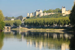 The Fortress. Chinon. France Stock Photography