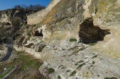 Fortress Chufut-Kale Crimea Stock Photo