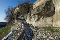 Fortress Chufut-Kale Crimea Stock Image