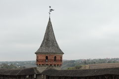 Fortress in a city Kamianets-Podilskyi Royalty Free Stock Photos