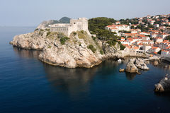 Fortress On A Cliff In Dubrovnik Stock Images