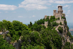 Fortress on a cliff Royalty Free Stock Photography