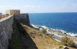 fortress-on-coastline Stock Photo