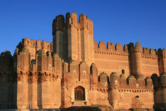 The fortress of Coca (Spain). The fortress of Coca (Segovia, Spain) was constructed in the second half of the 15ht century and is one of the most important Stock Photo
