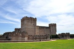 Fortress, Coca, spain. This catle was built in 15th century with Gothic mudéjar style. His decoration shows a mixture of military architecture  and Arabic Stock Image