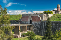 The fortress in Corfu city, Greece Stock Images