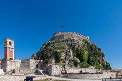 The fortress in Corfu city, Greece Royalty Free Stock Photos