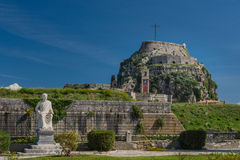 The fortress in Corfu city, Greece Royalty Free Stock Photography