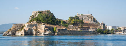 Fortress of Corfu city on the greek island of Kerkyra. Stock Photos