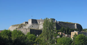 Fortress in Corfu. The newer fortress, built by the Venetians in the 18th century, in Corfu Greece Royalty Free Stock Photo