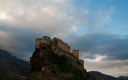 Fortress of Corte. Fortress in the historic capital of Corsica Stock Photo