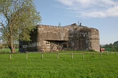Fortress, Czech republic. Fortress from II. world war near village  Sedlonov in Orlicke mountains, Czech republic Stock Photos