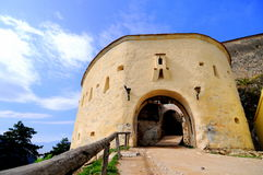 Fortress defense tower with entrance Royalty Free Stock Photos