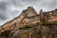 Fortress. Detail of an ancient fortress in the city of Grottaglie, in the south of italy Stock Image