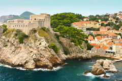 Fortress in Dubrovnic Royalty Free Stock Photography
