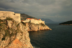 Fortress in Dubrovnik stock photography