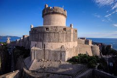 Fortress of Dubrovnik old town, Croatia Stock Images