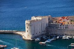 Fortress of Dubrovnik old town, Croatia Royalty Free Stock Image