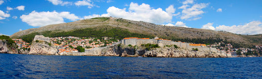 Fortress of Dubrovnik from the sea Stock Image