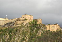 Fortress Ehrenbreitstein as seen from Koblenz Royalty Free Stock Photography