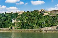 The Fortress Ehrenbreitstein in Koblenz. Stock Images