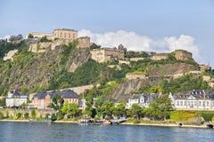 Fortress Ehrenbreitstein in Koblenz stock photos