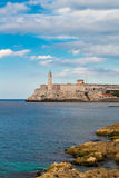 The fortress of El Morro in Havana Stock Photography