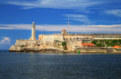 Fortress of El Morro in Havana, Cuba Royalty Free Stock Images