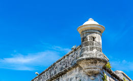 The fortress of El Morro in Havana, Cuba Royalty Free Stock Photography