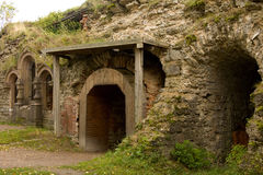 Fortress entrance. Arch shape entrance to fortress Royalty Free Stock Images