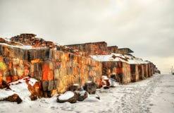 Fortress Erebuni in Yerevan Stock Image