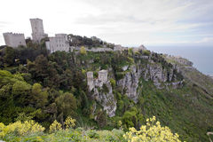 Fortress of Erice Stock Images