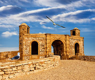Fortress in Essaouira overlooking the Atlantic Ocean Royalty Free Stock Images