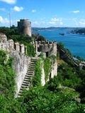Fortress of Europe. The Fortress of Europe on the  Bosphorus, Istanbul Royalty Free Stock Images
