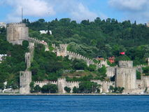 Fortress of Europe. The Fortress of Europe on the  Bosphorus, Istanbul Stock Photo